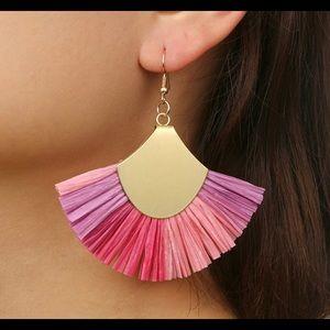 Ombré tissue fan earrings